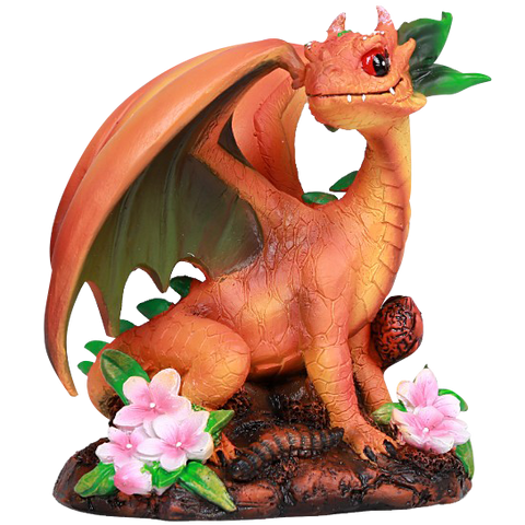 Peach Dragon Statue