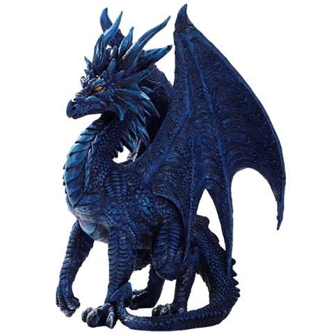 Blue Checkmate Dragon Statue