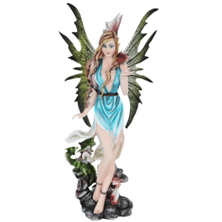 Guardian Fairy with Dragonlings Statue