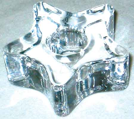 Glass Star mini Candle Holder