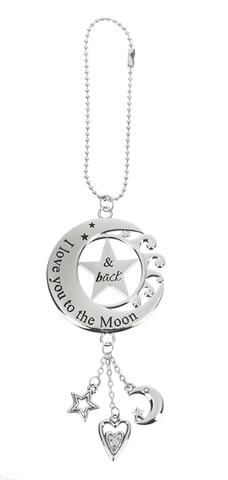 Car Charm - Moon/Star - I Love You to the Moon & Back