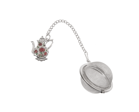 Charming Tea Ball Infuser - Pink Roses Teapot