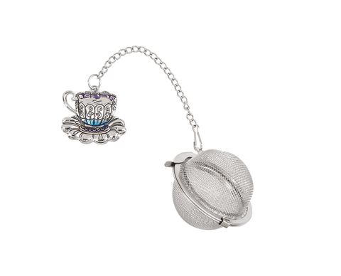 Charming Tea Ball Infuser - Teacup with Saucer