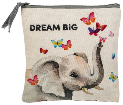 Zipper Case- Elephant. - Dream Big
