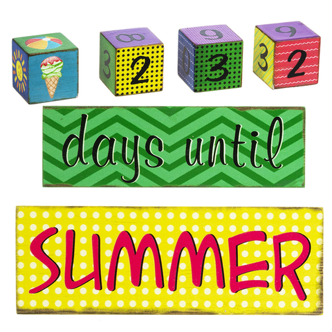 Countdown to Summer Numbered Blocks