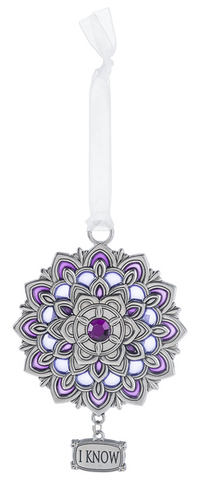 Ornament -I Know - Crown Chakra
