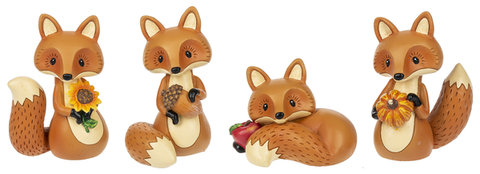 Fall Fox Figurine