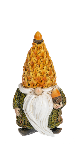 Acorn Hat Fall Gnome Figurine