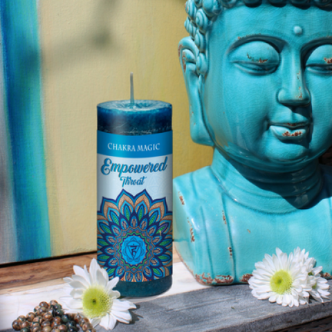 Throat Chakra- Empowered Candle