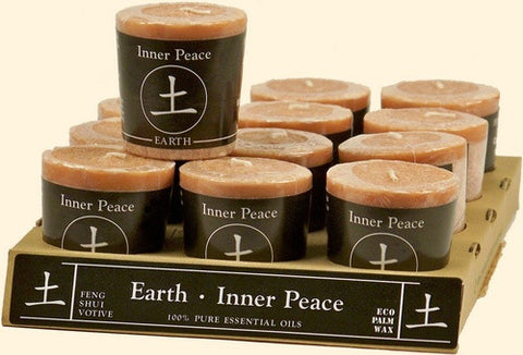 Earth -  Inner Peace Feng Shui Votive Candle - Cast a Stone