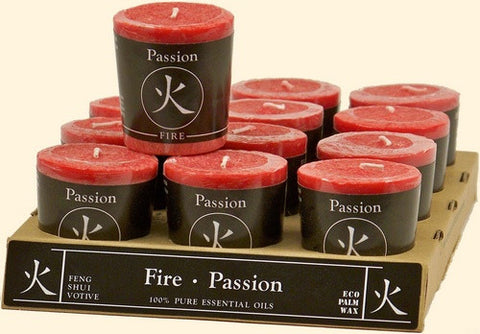Fire - Passion Feng Shui Votive Candle - Cast a Stone
