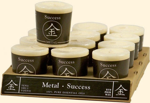 Metal - Success Feng Shui Votive Candle