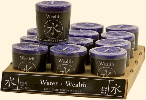 Water - Wealth Feng Shui Votive Candle