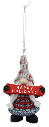 Ornament - Gnome - Happy Holidays
