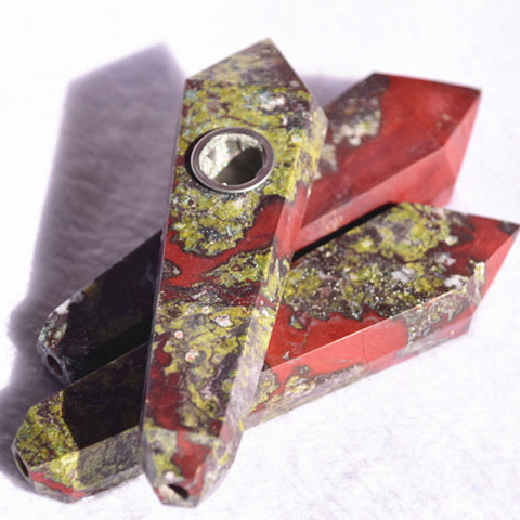 Dragon Blood crystal Gemstone pipe