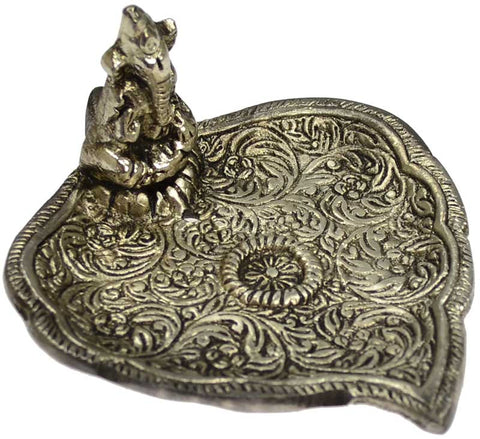 Ganesh & Leaf Incense Burner
