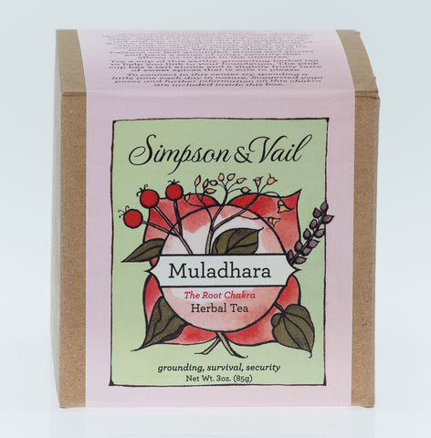Root Chakra (Muladhara) - Yoga Herbal Tea - 3oz box