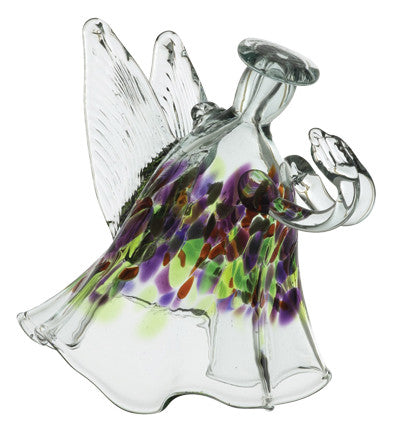 The Angel of Memories hand blown Art Glass Ornament - Cast a Stone