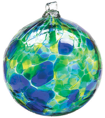 Calico Ball- Oceania hand blown Art Glass Ornament