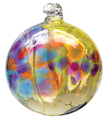 Fairy Orb in Burgundy hand blown Art Glass Ornament