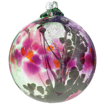Fairy Orb in Fuchsia hand blown Art Glass Ornament