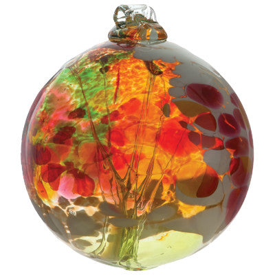 Fairy Orb in Lime hand blown Art Glass Ornament