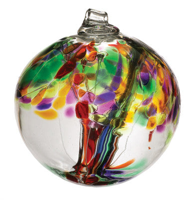 "Tree of Life - 6"" hand blown Art Glass Ornament - Cast a Stone"