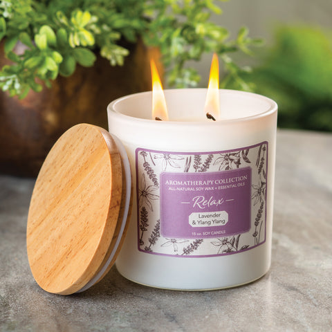 Relax Lavender & Ylang Ylang Aromatherapy Candle