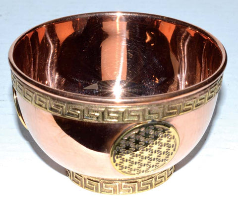 Copper offering bowl asst styles available