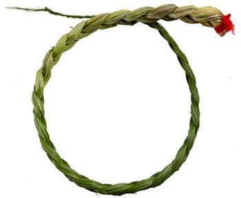 "Sweetgrass Braid 18"" smudge - Cast a Stone"
