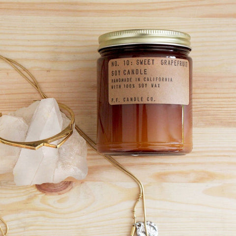 NO. 10: SWEET GRAPEFRUIT - 7.2 OZ STANDARD SOY CANDLE - Cast a Stone