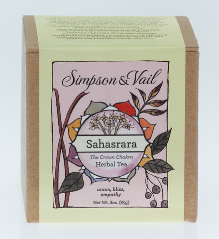 Crown Chakra (Sahasrara) - Yoga Herbal Tea - 3oz box