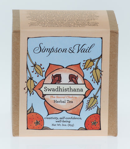 Sacral Chakra (Swadhisthana) - Yoga Herbal Tea - 3oz box