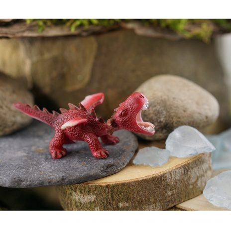 Mini red dragon roaring - Cast a Stone
