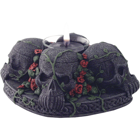 Skull and Roses Candle holder