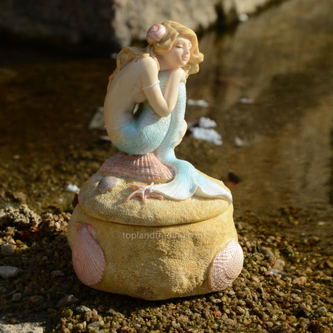Mermaid Napping Trinket Box