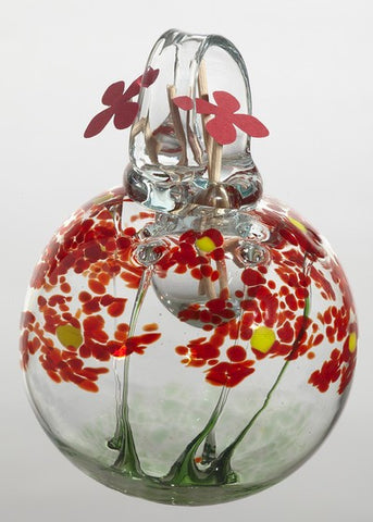 Blossom Scents Diffuser -Greetings- hand blown Art Glass Ornament