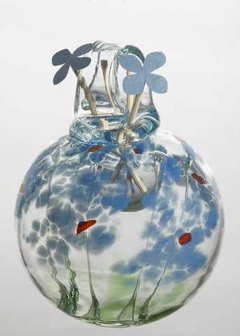 Blossom Scents Diffuser -Sympathy- hand blown Art Glass Ornament - Cast a Stone