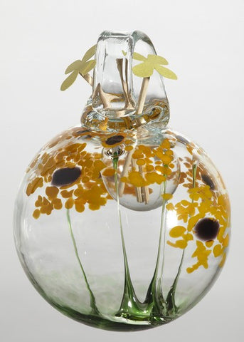 Blossom Scents Diffuser -Thanks- hand blown Art Glass Ornament