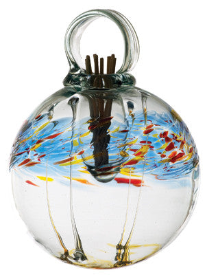 "6"" Healing Scents Diffuser - Fresh - hand blown Art Glass Ornament - Cast a Stone"
