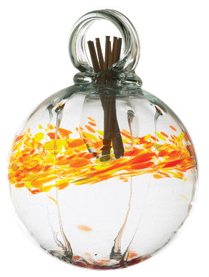 "6"" Healing Scents Diffuser - Indulgent - hand blown Art Glass Ornament - Cast a Stone"