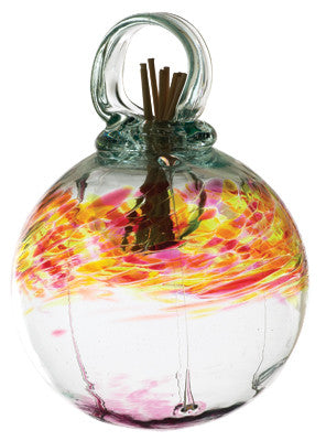 "4"" Healing Scents Diffuser - Passion - hand blown Art Glass Ornament - Cast a Stone"
