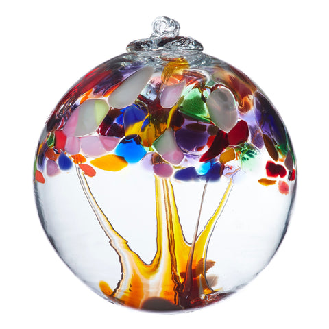"Tree of Enchantment Ball -Adventure 6"" hand blown Art Glass Ornament"