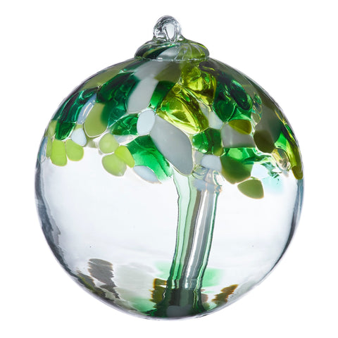 "Tree of Enchantment Ball -Wellbeing 6"" hand blown Art Glass Ornament"