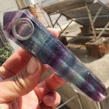 Rainbow Fluorite Gemstone crystal pipe - Cast a Stone