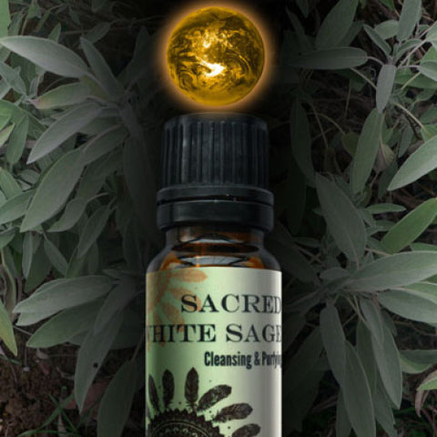 Sacred White Sage World Magic Oil - Cast a Stone