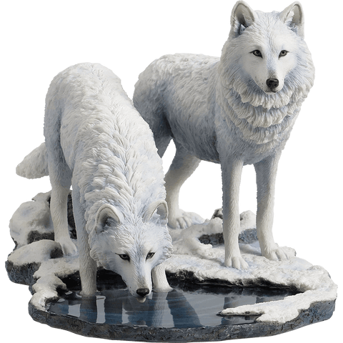 Winter Warriors Wolf Statue by Lisa Parker