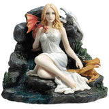 Maiden and Dragonlings Statue