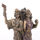 Hecate Triple Goddess Statue - Bronze Finish