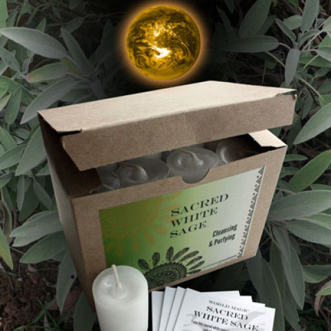 Sacred White Sage World Magic Votive - Cast a Stone